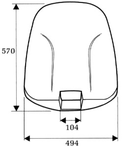 Back shells C-801 outer
